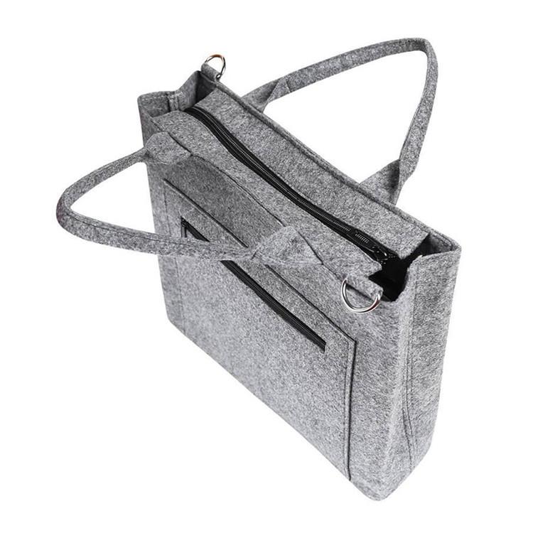 Business trip felt Laptop bag book tote bag with shoulder