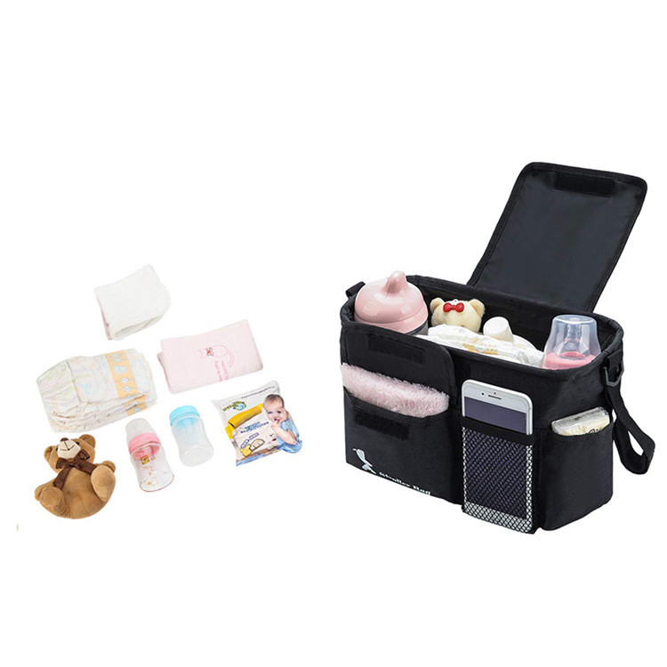 Extra Storage Multisectioned Compartments Baby Accessories Stroller Organizer Bag