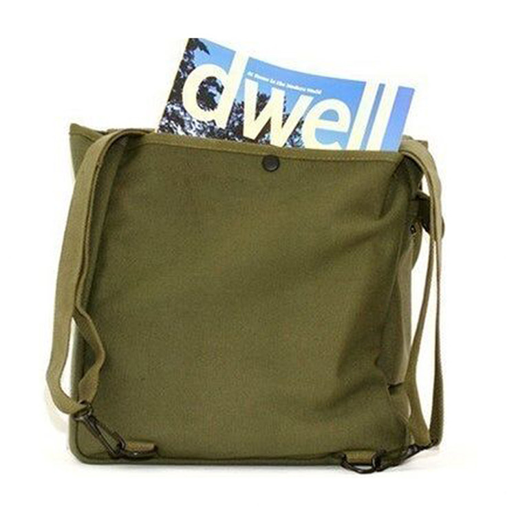 Wholesale green canvas kids school book backpack baby diaper bag