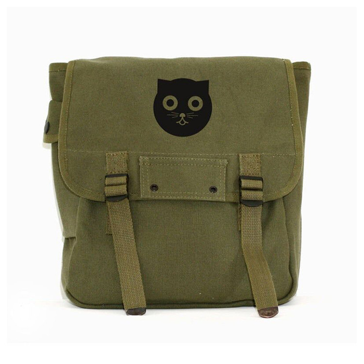 Wholesale green canvas kids school book backpack baby diaper bag