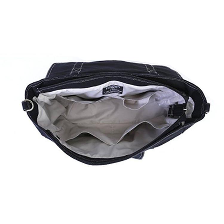 Custom plain canvas baby diaper messenger bag shoulder