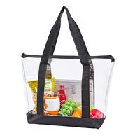 Large clear tote shopping bag PVC handbag for women