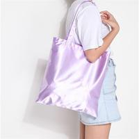 Custom plain satin travel bag storage book cosmetic