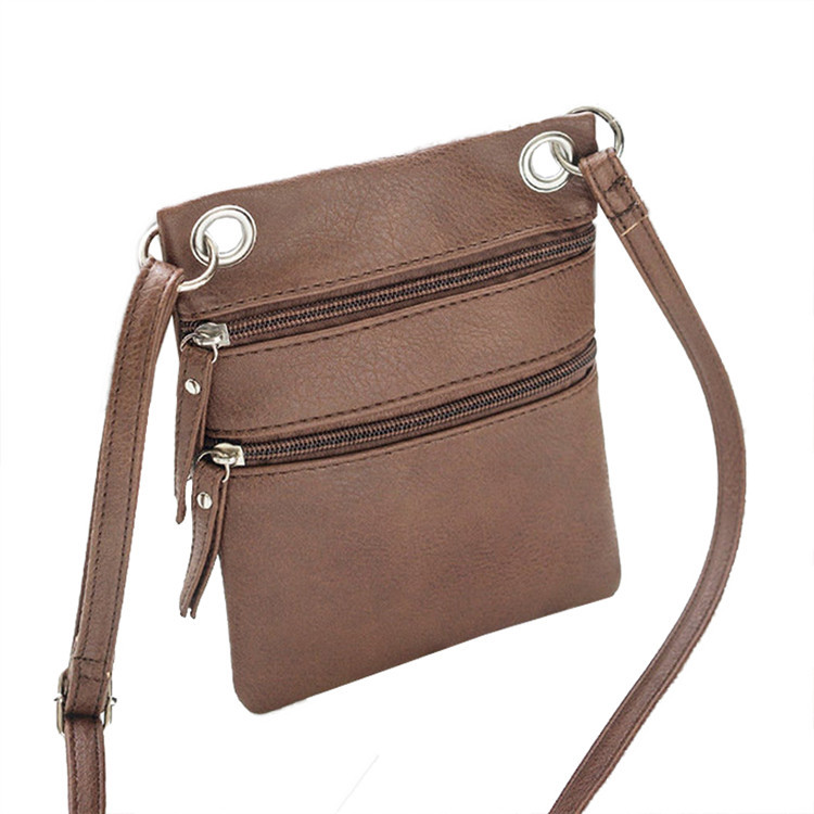 New womens small pu leather shoulder bag crossbody bag ladies with phone purse