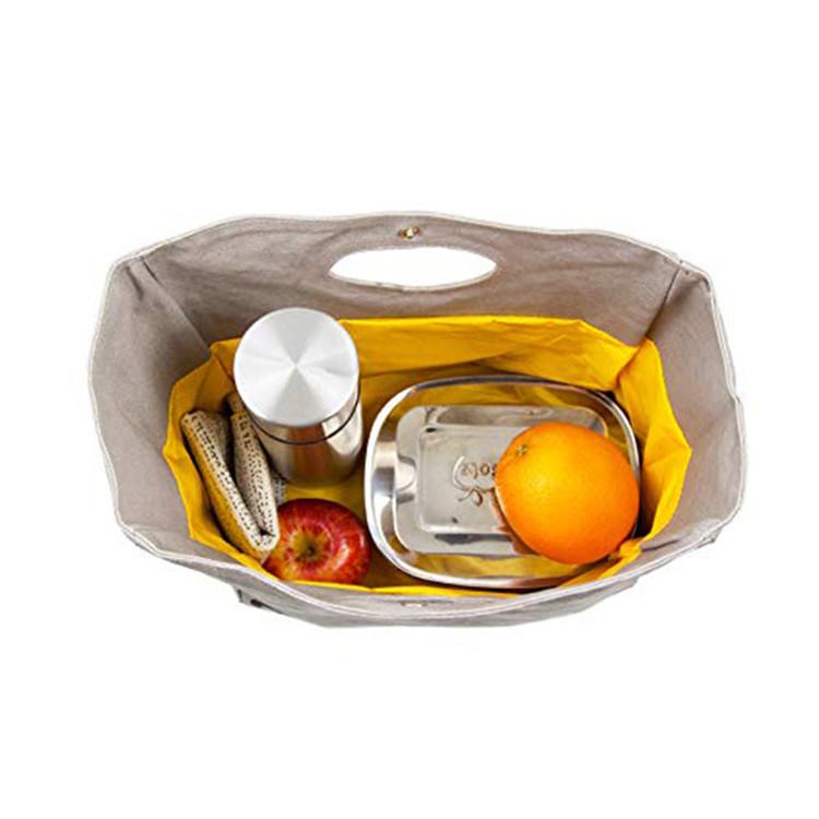 Eco friendly canvas handle bag fruit lunch bag