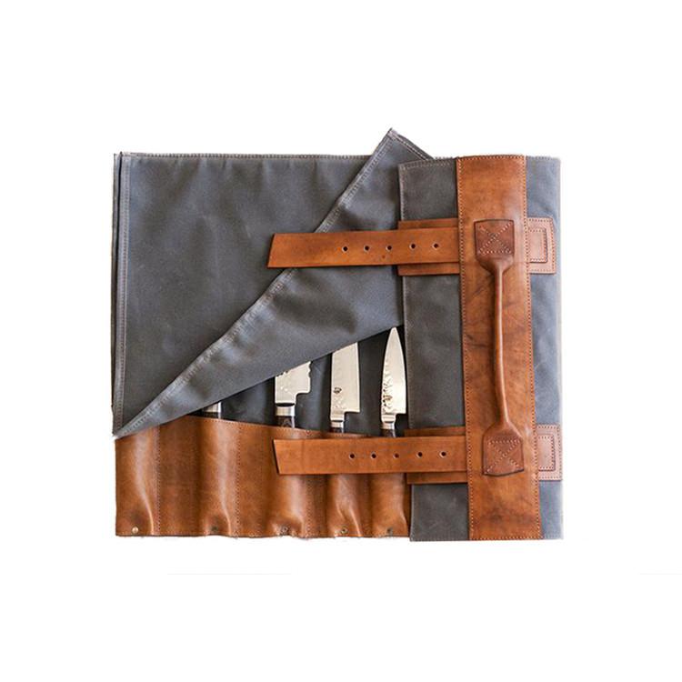Folding canvas knife bag kitchen fork spoon storage bag