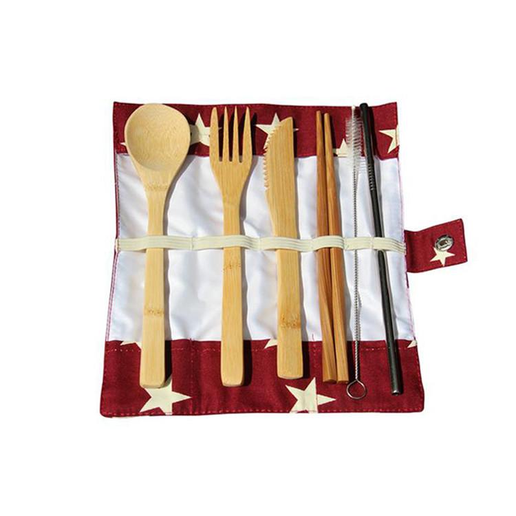 Custom folding canvas chef knife bag packing fork spoon chop sticks bag