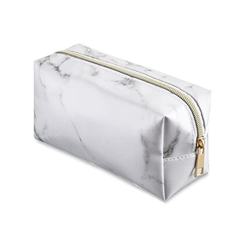Travel makeup zipper bag marble pattern women cluth bag