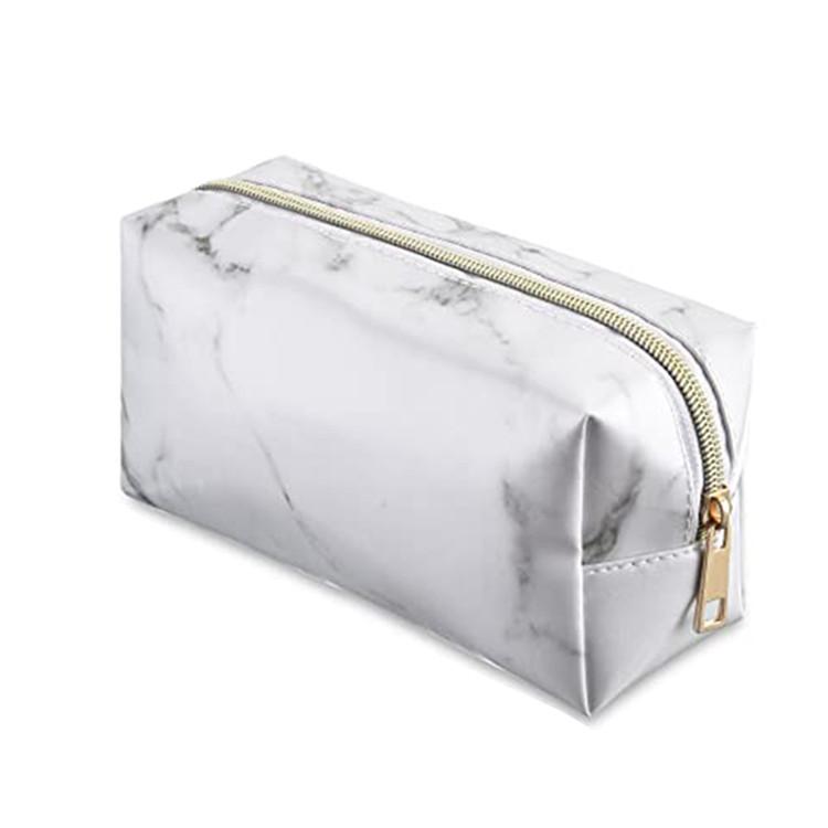 Travel makeup zipper bag marble pattern women cluth bag