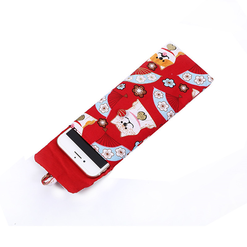 Mini Beautiful Printed Calico Cotton Mobile Phone Pouch Jewelry Packaging Bag