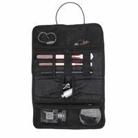 Custom roll up jewelry makeup cosmetic kit tool wall beautiful hanging bag storage organizer bag