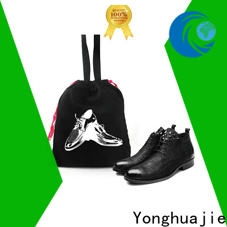 Yonghuajie printed hemp shopping bags with power bank for shoes