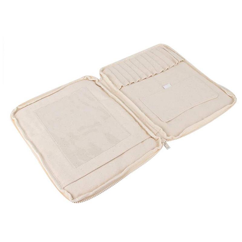 Custom nature cotton student pencil case handwritten stationery bag brush tote bag