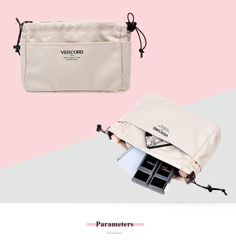 Cosmetic Makeup Clear Insert Handbag Case
