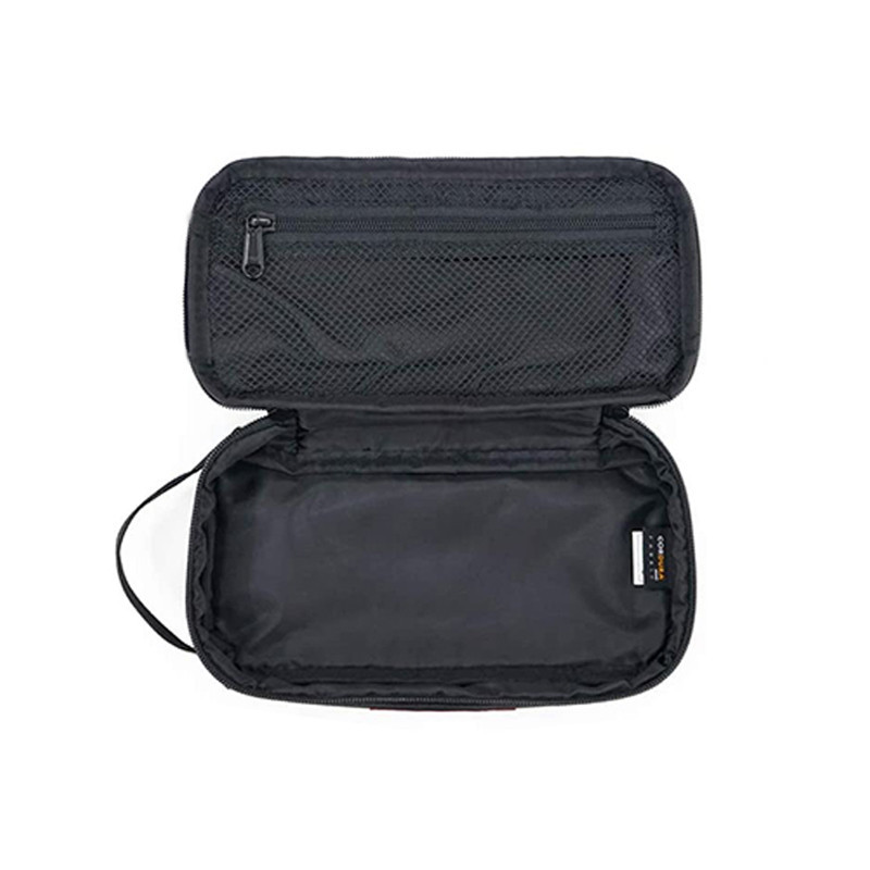 Custom Black Polyester Zippered Storage Bag Travel Cable Organizer Bag with Handle