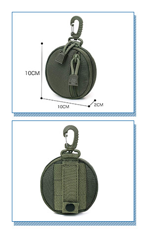 Tactical Military Keychain Wallet Holder Bag Pouch