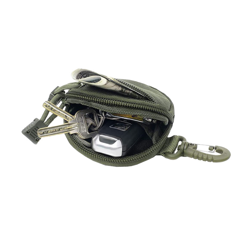 Portable Tactical Coin Purse with Key Chain Ring
