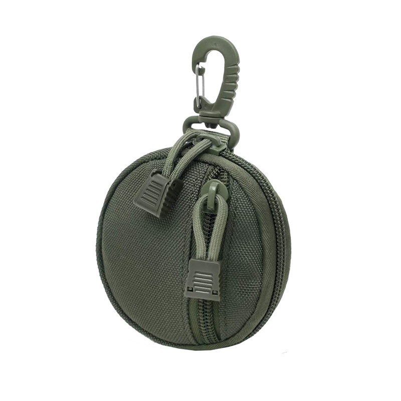 Wholesale Army Tactical Military Key Wallet Bag Zipper Coin Outdoor Purse Case With Hooks