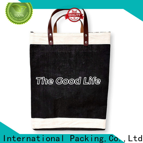 Wholesale burlap bag manufacturer small pouch company for wine