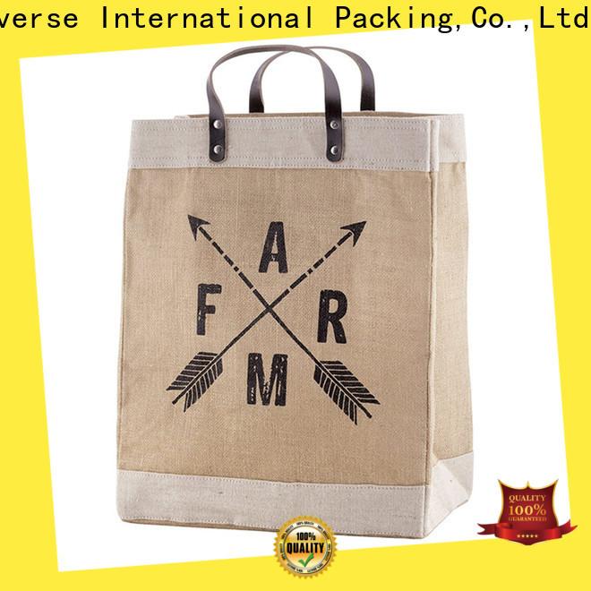 Custom hemp shopping bags drawstring high quality for packing