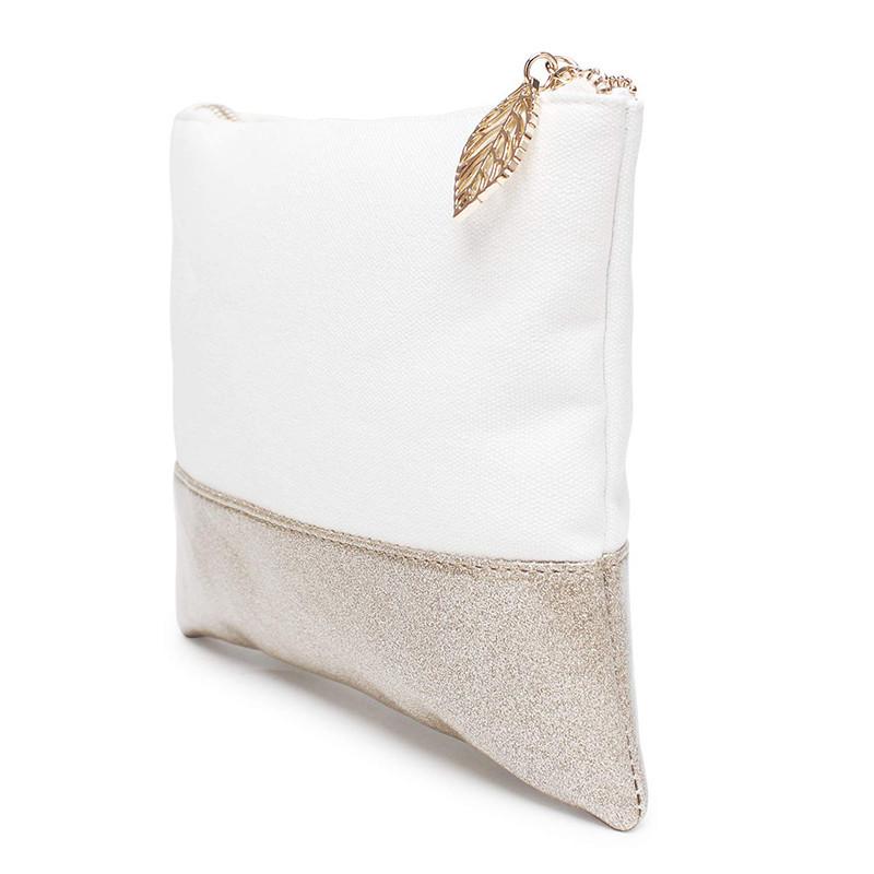 Custom Gold Glitter Travel Makeup Bag Small Cosmetic Bag Makeup Organizer