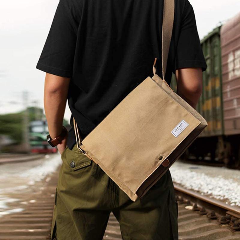 Custom Vintage Messenger Shoulder Bag Multi Compartment Laptop Bags for Men