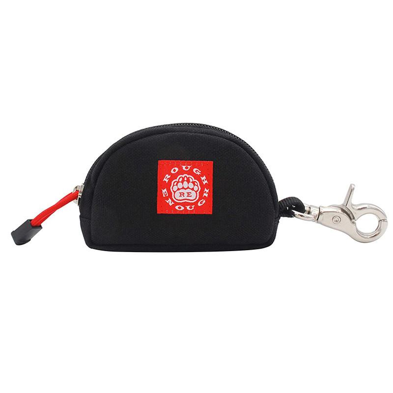 Wholesale Card Coin Key Pouch Bag Zipper Polyest Bag with Buckle Logo Customized