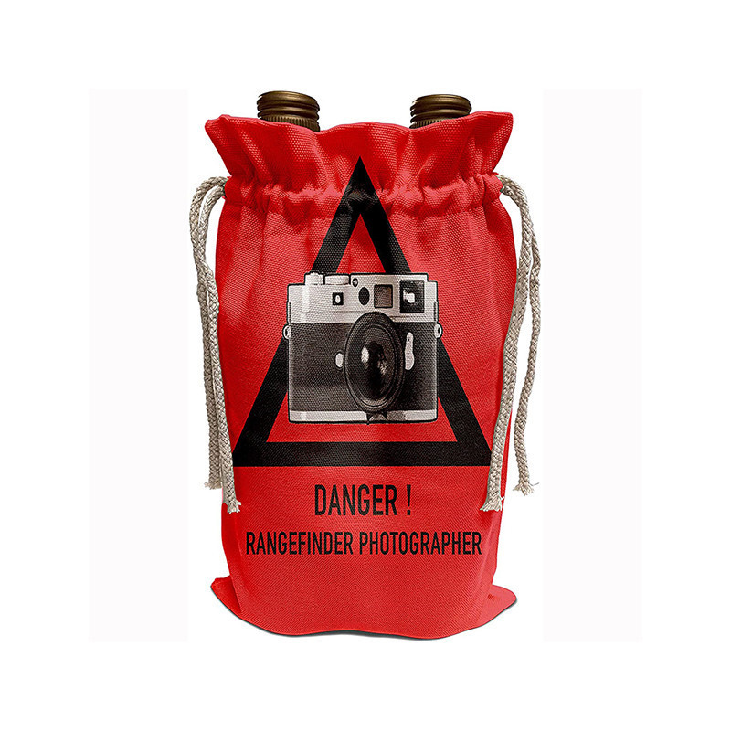 Logo Customized Canvas Drawstring Bag Pouches Camouflage Camera Bag