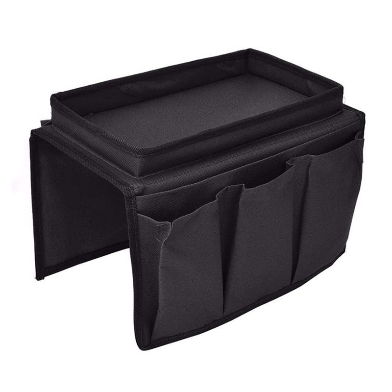 Custom Black Sofa Armrest Multi-Pocket Storage Hanging Bag Wholesale