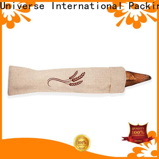 Custom linen pouch linen drawstring bag grosgrain Supply for students