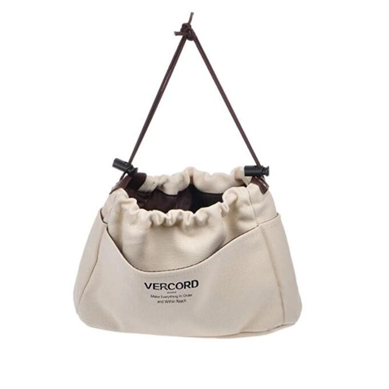 Custom natural gadget wallet woman makeup cosmetic organizer canvas insert bag