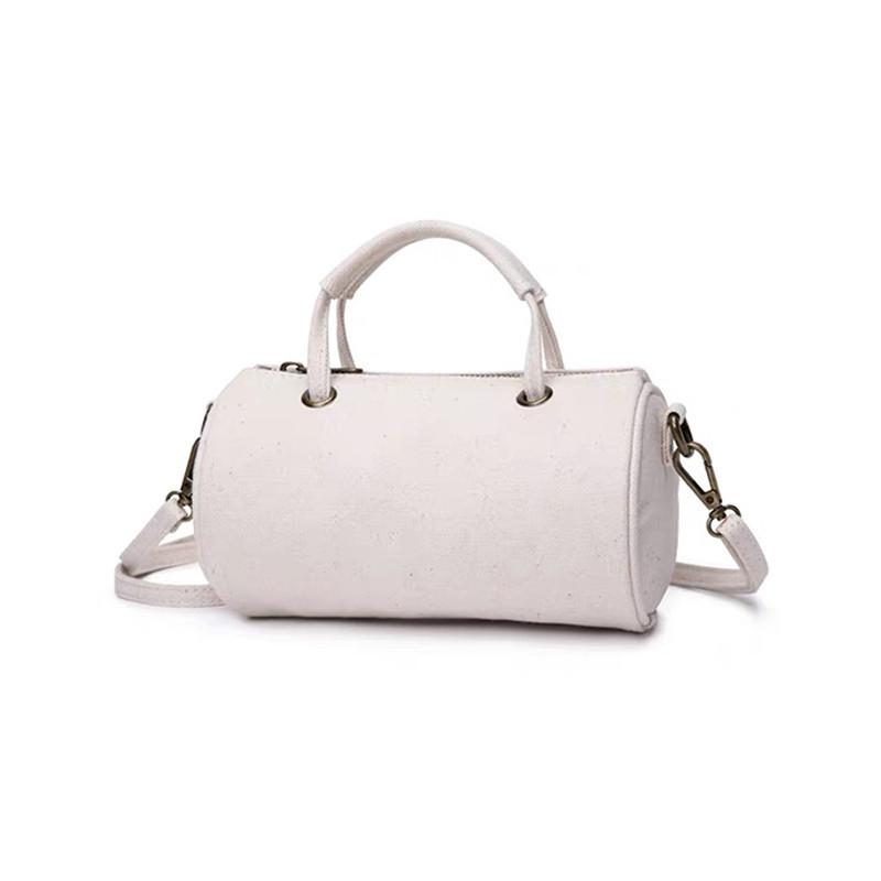 Plain white canvas women mobile phone  lipstick cosmetics tote shopping bag shoulder