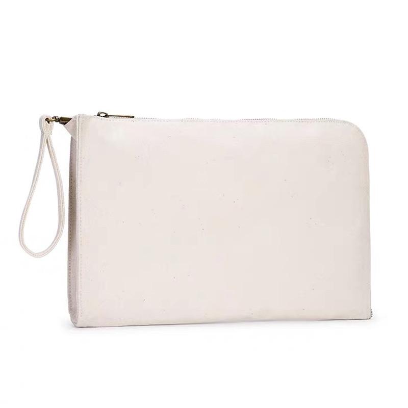 Custom Zipper Laptop Sleeve Bag Closure Plain Canvas Tablet Sleeve Case With Handle