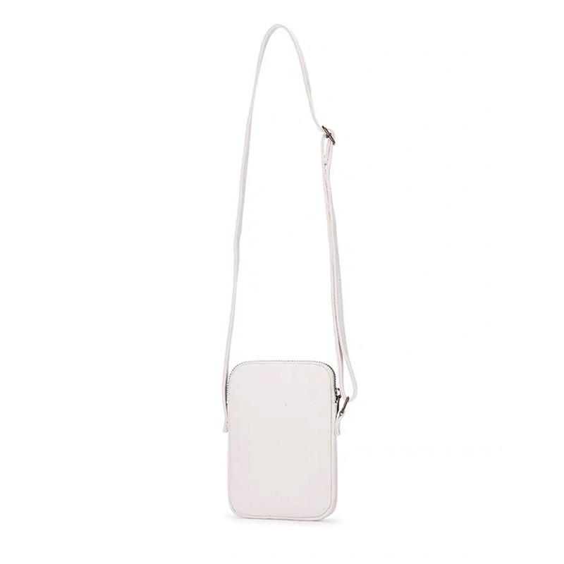 Custom canvas shoulder shopping bag phone card zipper bag inside pocket