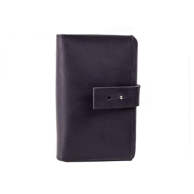 Custom black pu leather oganizer bag travel wire tool bag