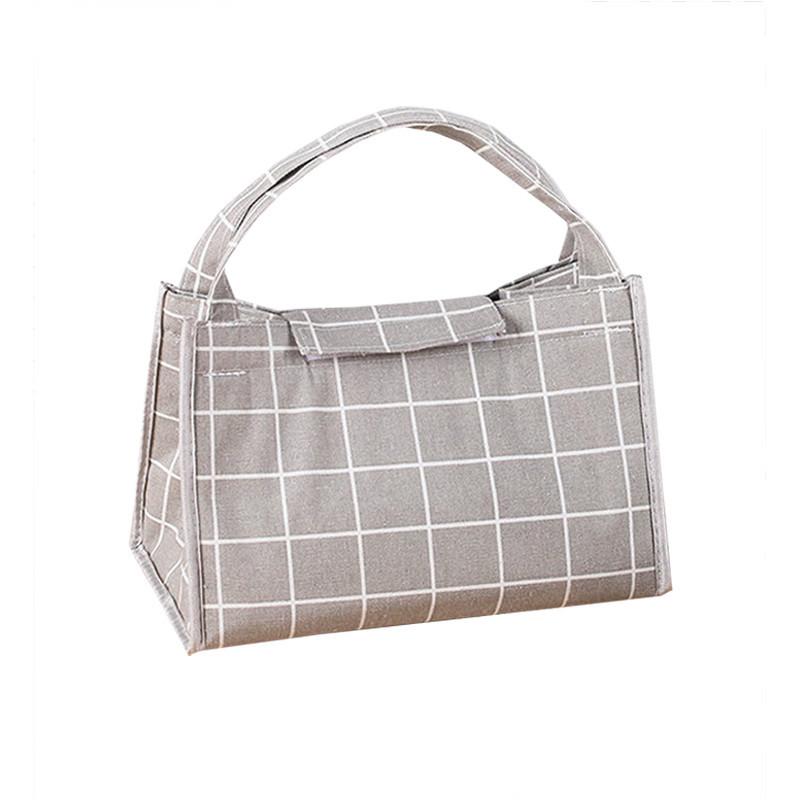Custom inside foil keep warm cotton lunch bag tote bag
