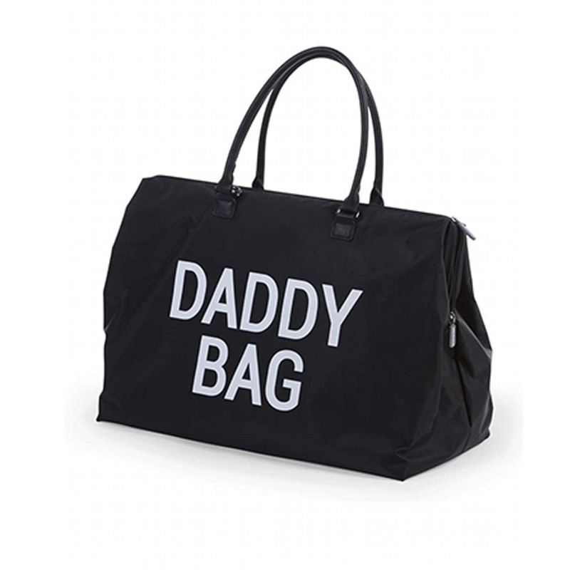 Custom black nylon dady bag storage toys baby diapers wet paper clothes tote bag