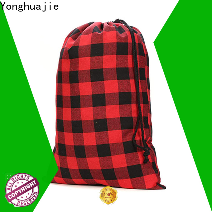 Yonghuajie Custom eco friendly cotton bags with drawstring for shoes