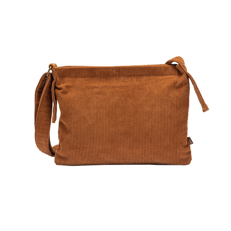 Customize fashion shopping corduroy messenger crossbody sling bag