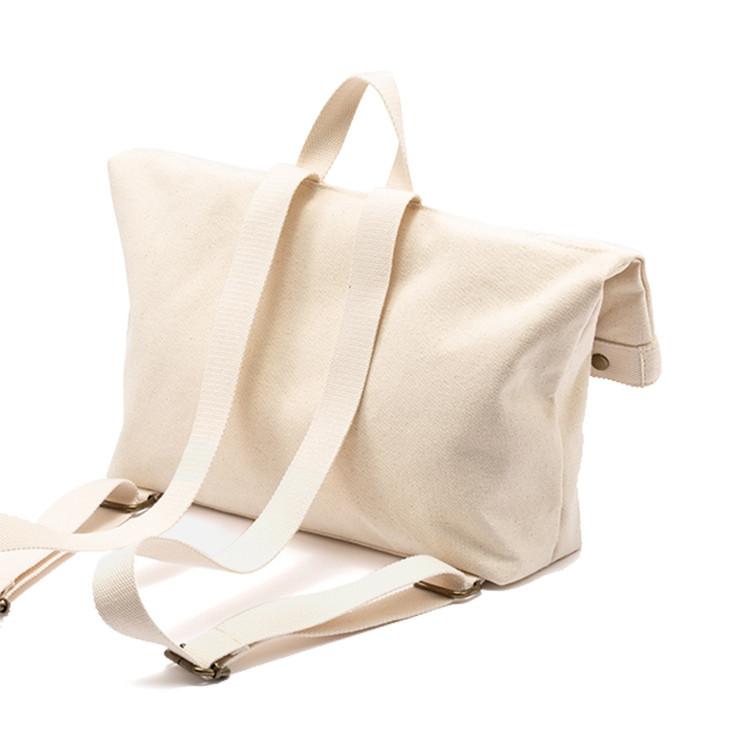 Custom storage school magazines book shopping canvas tote backpack bag