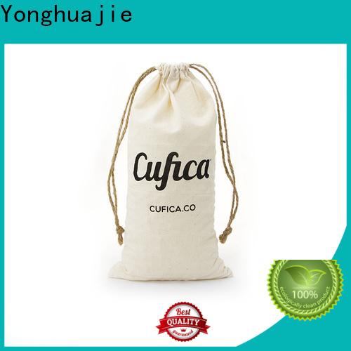 Yonghuajie drawstring custom cloth bags with drawstring for shopping