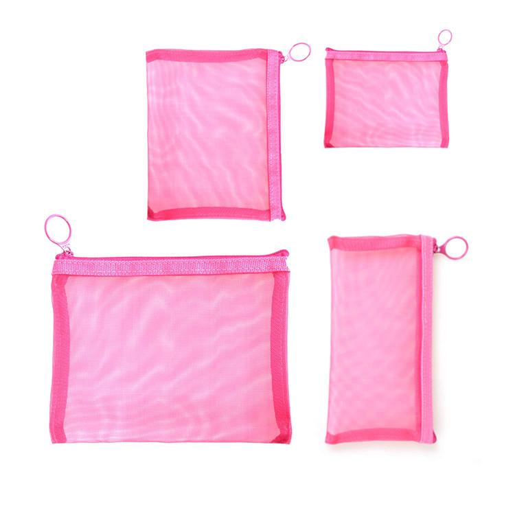 small mesh zipper pouch