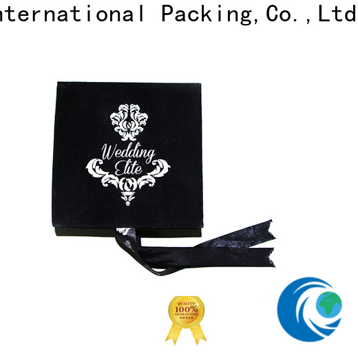 High-quality velvet cufflink box flocking fast delivery for wedding rings