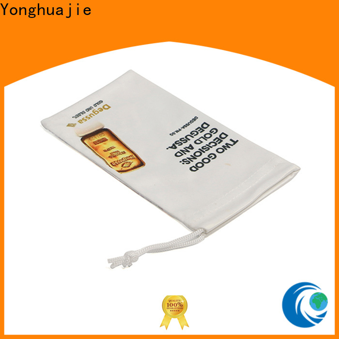 Yonghuajie Custom microfiber sunglass pouch wholesale company for gift