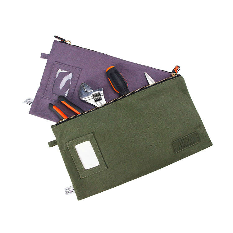 Custom canvas tool bag travel tool storage zipper bag