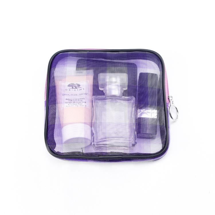 Custom zipper mesh storage bag gift makeup bag set
