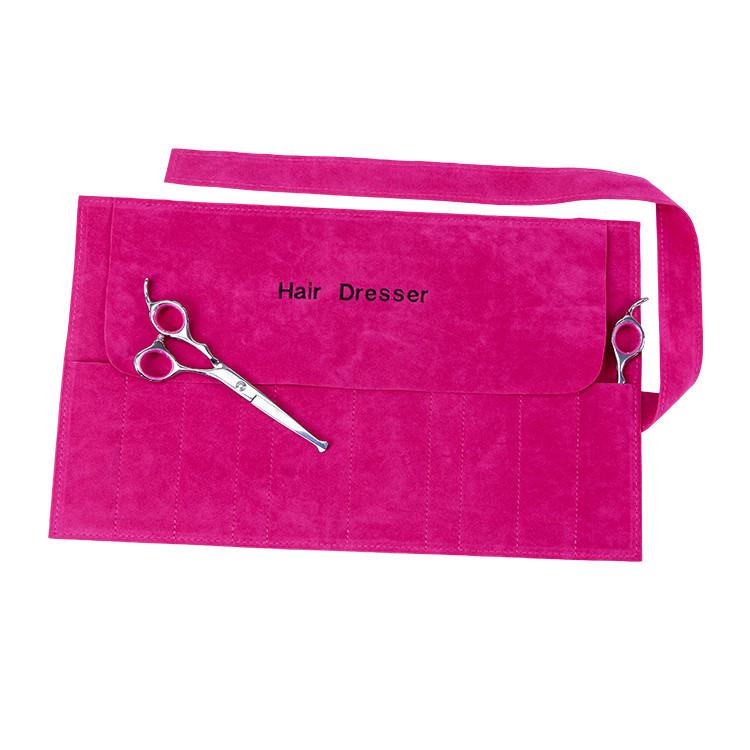 Custom Pink Salon Hairdresser Tool Bag Velvet Roll Tool Bag