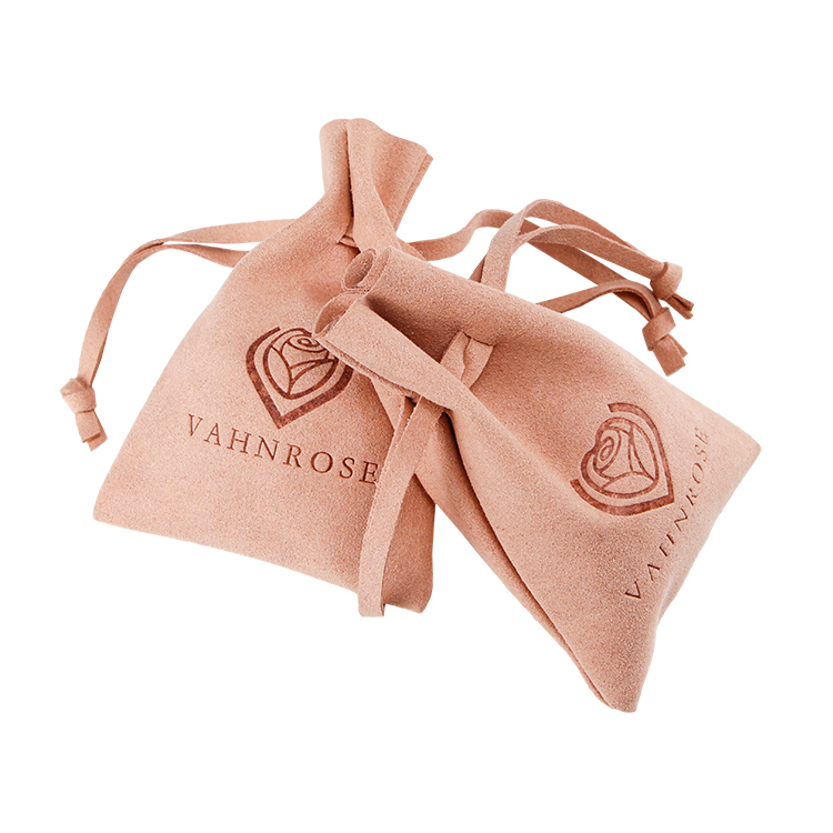 Drawstring suede pouch gift jewelry bag