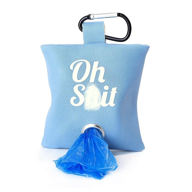 Custm Logo Pu Leather Dog Poop Bag Dog Waste Bag