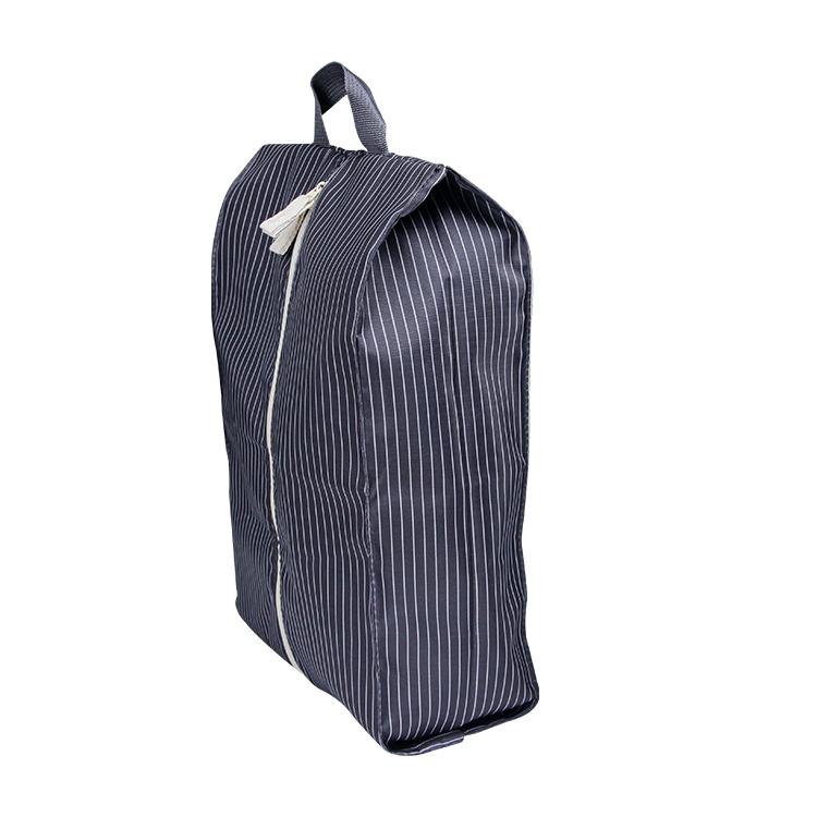 Custom travel waterproof polyester storage shoe bag with handle